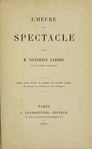 Cover of: L' heure du spectacle