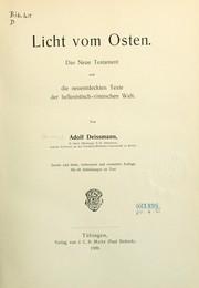 licht vom osten 1909 edition open library. Black Bedroom Furniture Sets. Home Design Ideas