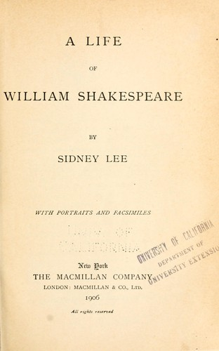 a view of the life of william shakespeare