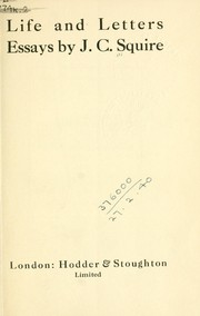 Cover of: Life and letters, essays