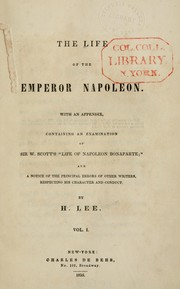 Cover of: The life of the emperor Napoleon