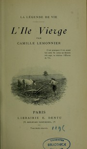 Cover of: L'Ile vierge