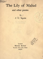 Cover of: The Lily of Malud, and other poems