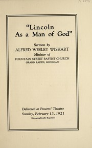 "Cover of: ""Lincoln as a man of God"""