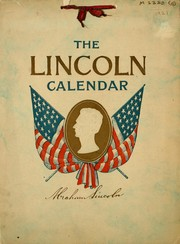 Cover of: The Lincoln calendar