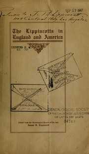 Cover of: The Lippincotts in England and America | James Starr Lippincott