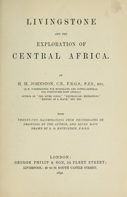 Cover of: Livingstone and the exploration of Central Africa