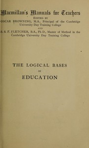 Cover of: The logical bases of education