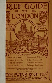 Cover of: Brief guide to London | Evans, D.H. & Co., Ltd., London