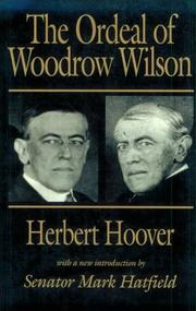 Cover of: The ordeal of Woodrow Wilson