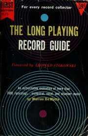 Cover of: The long playing record guide. by Warren De Motte