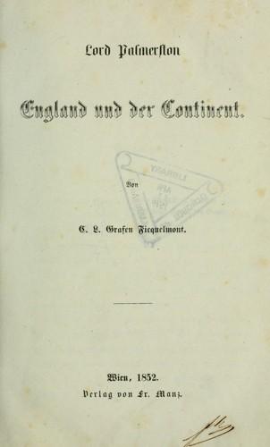Lord Palmerston, England und der Continent