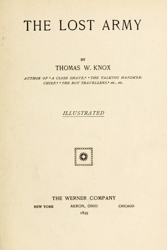 The lost army by Thomas Wallace Knox