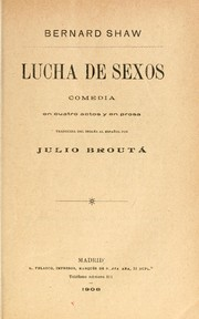 Cover of: Lucha de sexos
