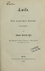 Cover of: Luise