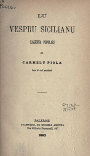 Cover of: Lu vespru sicilianu