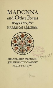 Cover of: Madonna and other poems | Harrison S. Morris