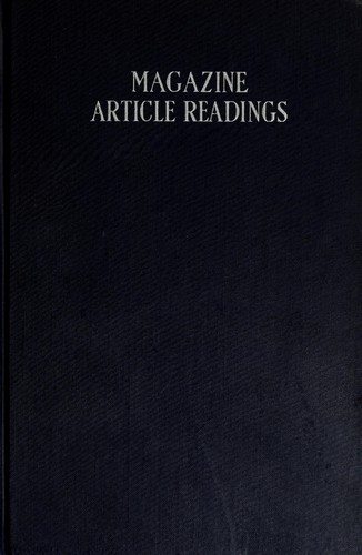 Magazine article readings by Brennecke, Ernest