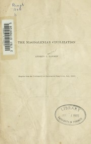 Cover of: The Magdalenian civilization