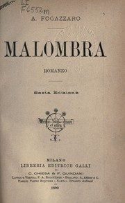 Cover of: Malombra
