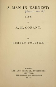 Cover of: A man in earnest