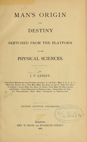 Cover of: Man's origin and destiny