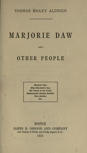 Cover of: Marjorie Daw, and other people