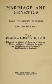 Cover of: Marriage and genetics | Reed, Charles Alfred Lee