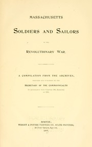 Massachusetts soldiers and sailors of the revolutionary war. Vol. 1 AACHER - BERY