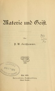 Cover of: Materie und Geist