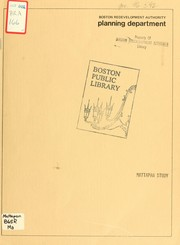 Cover of: Mattapan study
