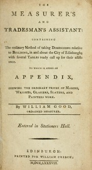 Cover of: The measurer's and tradesman's assistant