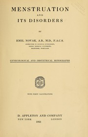 Menstruation and its disorders by Emil Novak