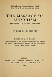 Cover of: The message of Buddhism