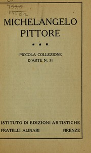 Cover of: Michelangelo pittore...