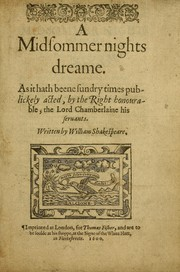 Cover of: Midsummer night's dream