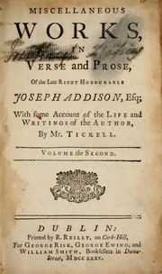 Cover of: Miscellaneous works