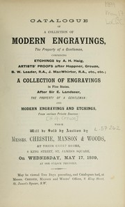 Cover of: Modern engravings | Christie, Manson & Woods