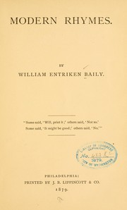 Cover of: Modern rhymes | William Entriken Baily