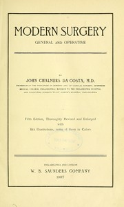 Cover of: Modern surgery, general and operative