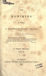Cover of: The Monikins, a tale