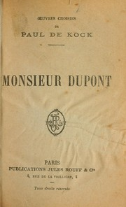 Cover of: Monsieur Dupont