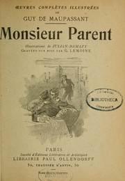 Cover of: Monsieur Parent