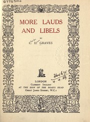 Cover of: More lauds and libels