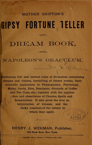 Mother Shipton's Gipsy fortune teller and dream book (1890