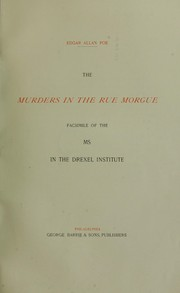Cover of: The Murders in the Rue Morgue and The gold bug