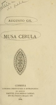 Cover of: Musa cerula