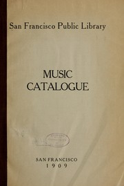 Cover of: Music catalogue | San Francisco Public Library