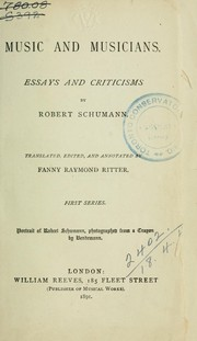 Cover of: Music and musicians | Robert Schumann