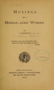 Cover of: Musings of a middle-aged woman